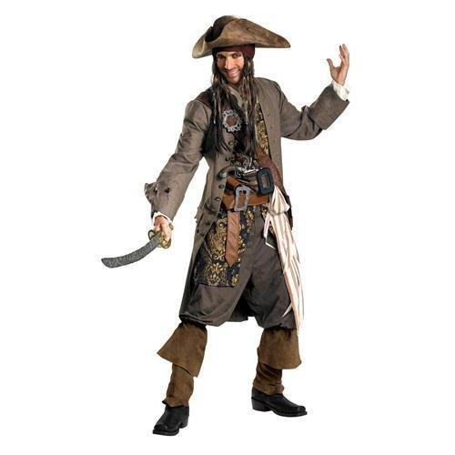 Captain Jack Sparrow Theatrical Costume - XX-Large - Chest Size 50-52