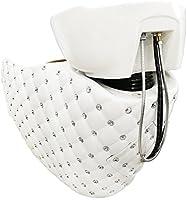 Crisnails® Kit Lavacabezas con Sillones de Salón Peluquería Barberos Kit de 2 Sillones para Lavar Peluquería (Diamante-Blanco)
