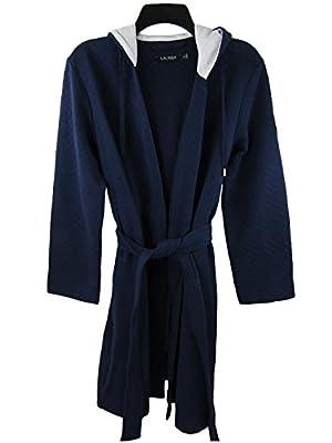 Lauren by Ralph Lauren Women's Short Lounge Robe With Thermal Hood
