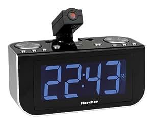 Karcher AG UR 1120 - Radiodespertador de 5 W, negro