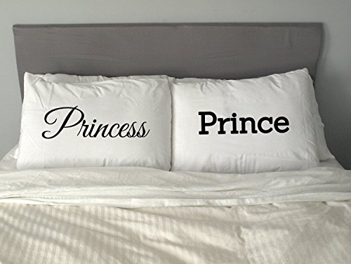 PRINCE U0026 PRINCESS Pillow Case Funny Valentine Gift His And Hers Him And Her