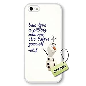 Disney Frozen Quotes Hard Plastic Phone For Case Ipod Touch 5 Cover - White 1