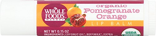 Whole Foods Market, Organic Pomegranate Orange Lip Balm, 0.15 Ounce