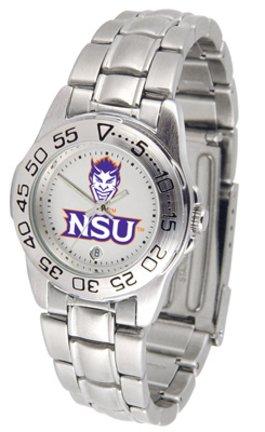 Northwestern State Demons NSU NCAA Womens Steel Sports Watch by SunTime