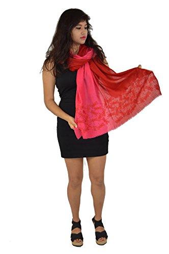 Cashmere Shawl/ Scarf (Graduated Dragon Fly design shawl)