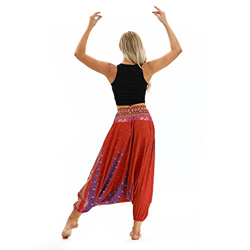 Donna keldorng Red Top 1 Pantaloni aErqHwa