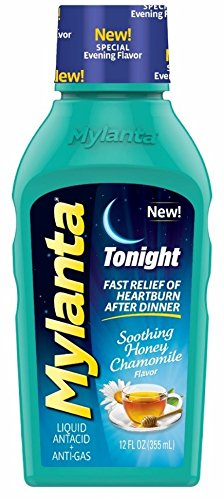 Mylanta at Night Antacid, Honey-Chamomile, 12 Ounce