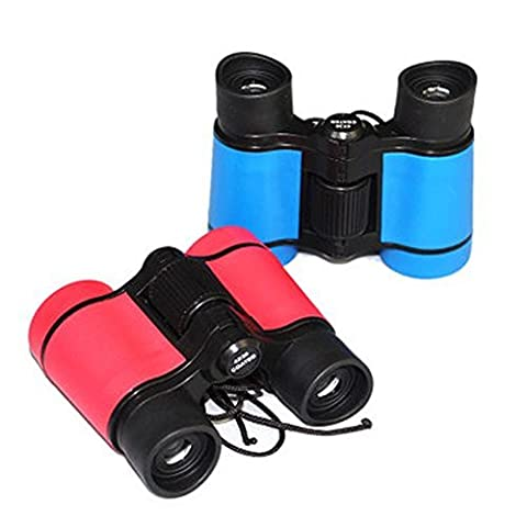 LUCKSTAR® 4X30 Plastic Folding Binoculars Telescope, Gift Toy Binoculars Party Favors for Kids Outdoor (1 Set of 4 (Folding Binoculars Kids)