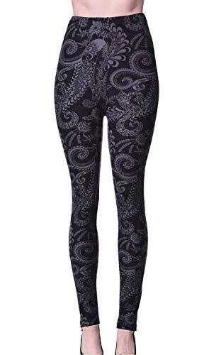 - VIV Collection Regular Size Printed Leggings (Shadowy Beauty)