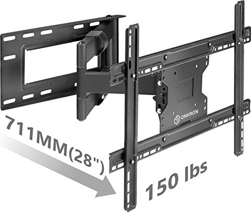 Arm Plasma Wall Mount - ONKRON TV Wall Mount Bracket Full Motion Articulating Long Arm for 39