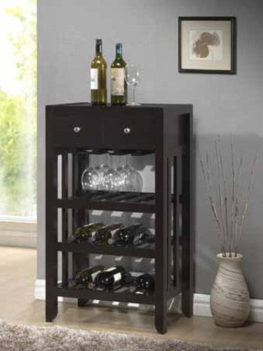 Brand New 22.4'' x 14.24'' x 38.6''H Dark Espresso Wood Finish Wine Rack by Click 2 Go
