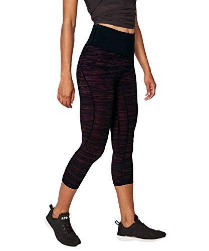 Lululemon - Run the Day Crop - LWTD/BLK - Size 10 by Lululemon