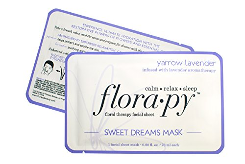 Florapy Beauty Sweet Dreams Sheet Aromatherapy Mask, Yarrow Lavender