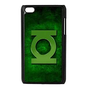 Creative Drop ship customs Top Protective Cover DC Comic Series Green Lantern Cheap Plastic Hard Case Design Cases for ipod touch 4 ipod4 100% PC plastic black Case Custom Shop
