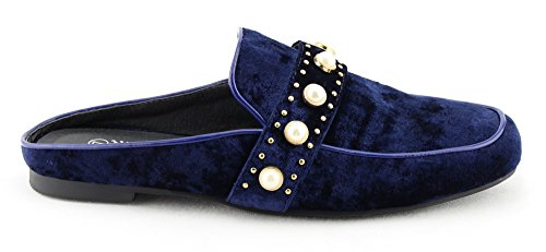 CALICO KIKI Damenmode Schuhe Slip-On Mule Slide Loafer Wohnungen Vel_black