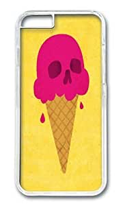 Apple Iphone 6 Case,WENJORS Adorable Skull Scoop Hard Case Protective Shell Cell Phone Cover For Apple Iphone 6 (4.7 Inch) - PC Transparent