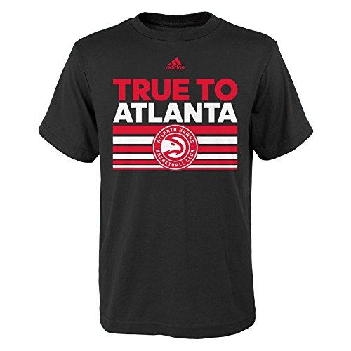 fan products of NBA Atlanta Hawks Boys Youth Born One Short Sleeve Tee, Medium (10-12), Black