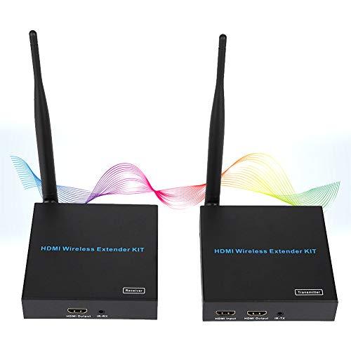 Mugast 100m 1080P HDMI Wireless Transmitter Receiver, Support External Remote Infrared Expansion, US Plug, 100-240V(100m)
