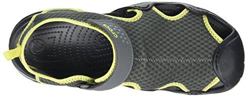 Crocs Herren Swiftwater Sandalo Uomini Grau (grigio Ardesia / Palla Da Tennis Verde)