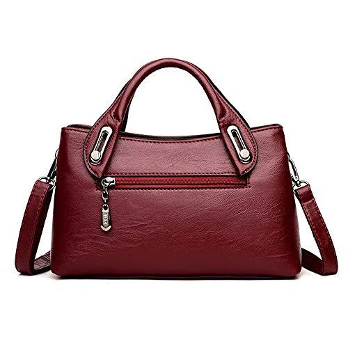 bag bag Black soft Bolsos Messenger capacity large bag handbag XNQXW leather bandolera shoulder Women's bag hand Z1xv8Iwvq
