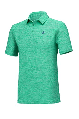 Best Golf Shirt (Jolt Gear Mens Dry Fit Golf Polo Shirt, Athletic Short-Sleeve Polo Golf Shirts, Green (Laundry Bag included))