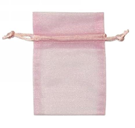 Pink, 25, bolsas de Organza 9 x 12 cm, diseño de cuadros ...