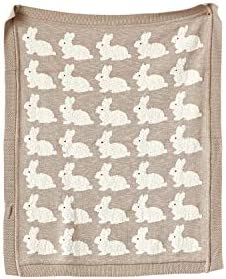Creative Co op Cotton Rabbit 21 Textiles Blankets