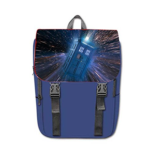 Doctor Who Print Oxford Fabric Casual Backpack Travelling Bag .