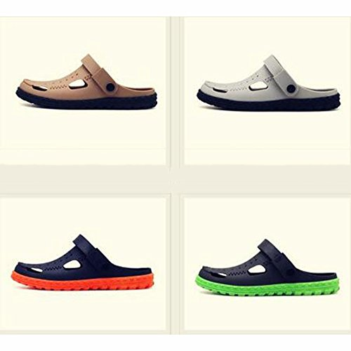 XIAOLIN Zapatillas Hombre Zapatillas de verano Zapatos de hombres Agujeros Hombres Zapatos de playa de doble uso Zapatillas medias de hombres Zapatos de vadeo perezoso (Tamaño opcional) ( Color : 01 , 03