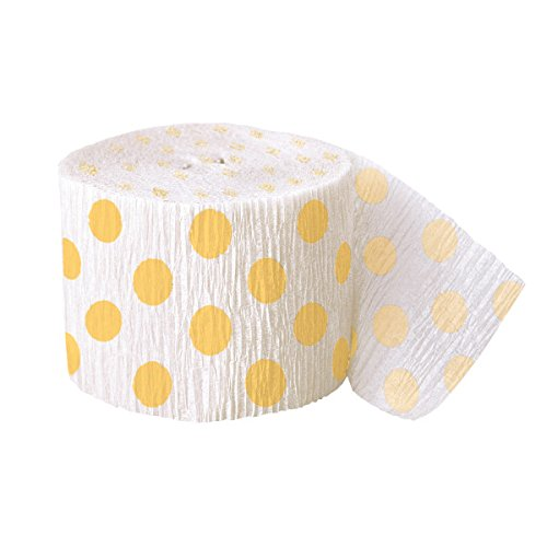 30ft Yellow Polka Dot Crepe Paper Streamers]()