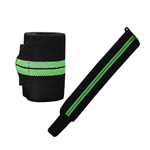 Price comparison product image C-Pioneer 1Pcs Weight Lifting Wristbands Sports Training Wraps Straps Support Gym Bracelets Outdoor Hand Bands (A)