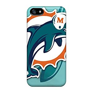 Durable Cell-phone Hard Covers For Iphone 5/5s With Unique Design Beautiful Miami Dolphins Skin JasonPelletier