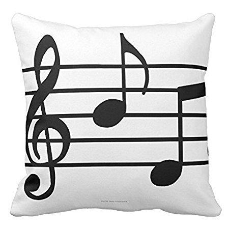 violetpos funda de cojín decoración Notas Musicales sofá ...
