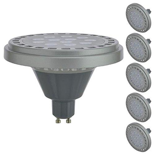 LEDwholesalers Dimmable GU10 Base AR111 15W 30° Beam Angle LED Bulb (6-Pack), Warm White, 1508WWx6