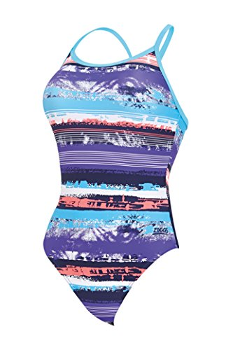 Da Aquabrush Zoggs Per Donne Bagno Costume colour Navy Sprintback multi BXnnvfO