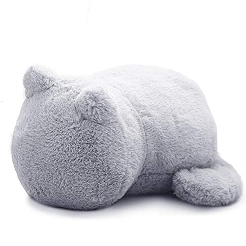 FONGFONG Soft Plush Toy Sweet Cat Stuffed Animal Kitten Dolls 13 Inches Hugging Pillow Huggers Sofa Cushion Home Nursery Decor Birthday for Baby Kids Boys Girls in Grey