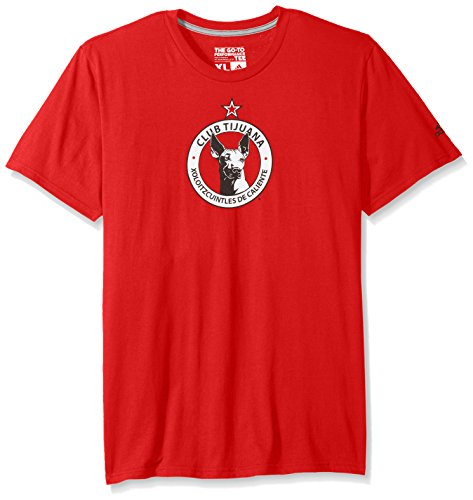 fan products of MLS Club Tijuana Men's Team Crest Short Performance Tee, X-Large, Red