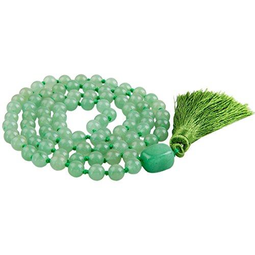 SUNYIK Green Aventurine Wrap Bracelet,Beaded Necklace Tibetan Buddhist Prayer Beads