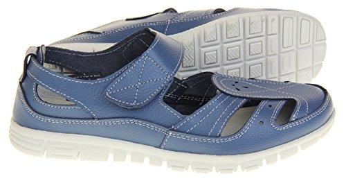 Fruits Chaussures Par D't Femmes Bleu Merceditas Coolers En Cuir Pour Sandales frfqZR