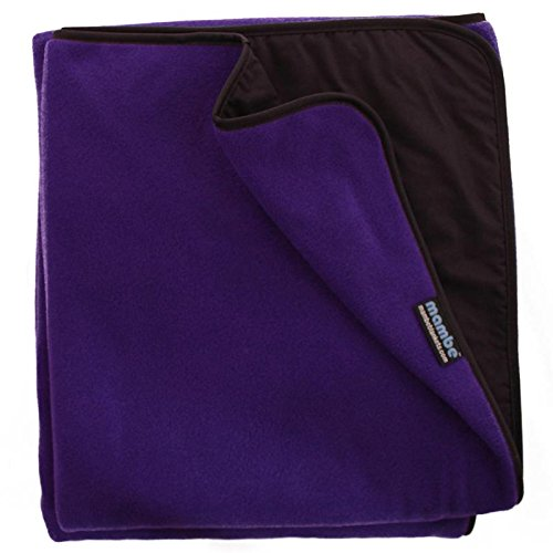 (Mambe Extreme Weather 100% Waterproof/Windproof Outdoor Blanket, Camping Blanket and Stadium Blanket with Premium Stuff Sack (Large, Royal Plum) Made in The USA)