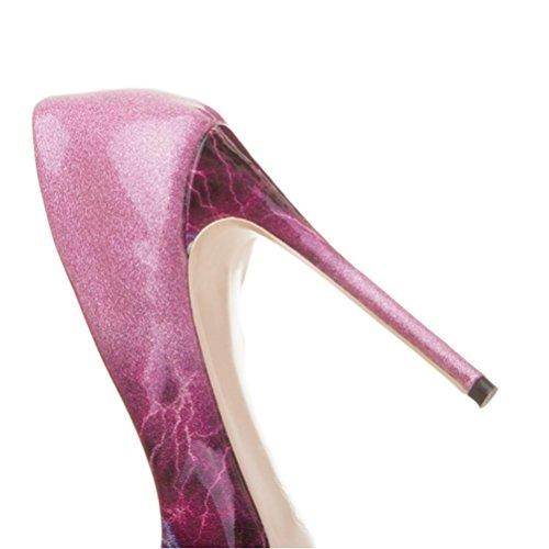 hauts peu grande femmes red chaussures à Les taille chaussures bouche ont pour simples dames pointu femmes talons la purple profonde 12cm QPYC Anwx6Fqx