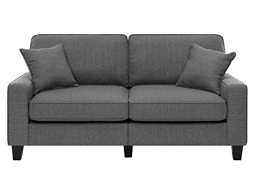 Living Room Serta Palisades Upholstered Sofas for Living Room Modern Design Couch, Straight Arms, Soft Fabric Upholstery, Tool-Free… modern sofas and couches