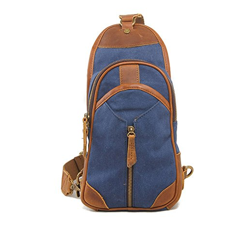 Gububi Rétro Bleu En L'eau Toile Simple Messenger couleur Sac Bleu Imperméable Bag À Bandoulière 8WwqxSrZ8