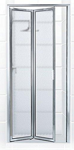 Coastal Shower Doors P2024.70B-A Paragon Series Framed Bi-Fold Double Hinge Shower Door in Obscure Glass 24