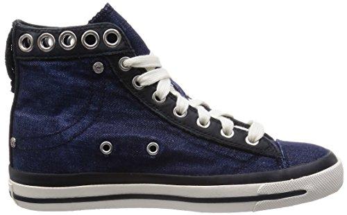 6b75e2e5778 Diesel Women's Magnete Exposure IV W Fashion Sneaker, Indigo/Black, 9.5 M US