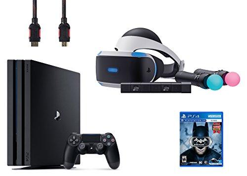 PlayStation VR Start Bundle 5 Items:VR Headset,Move Controller,PlayStation Camera Motion Sensor,PlayStation 4 Pro 1TB,VR Game Disc Arkham VR