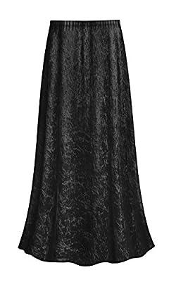 Sanctuarie Designs Black Plus Size Crush Velvet Supersize Skirt