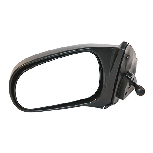 1996-2000 Honda Civic 4-Door Sedan Manual Remote Black Rear View Mirror Left Driver Side (1996 96 1997 97 1998 98 1999 99) (Mirror 4 Door Sedan Drivers)