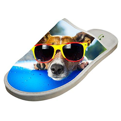 Nice Cotton Swimming Pool Cool Dog House Slippers Baboosh Chinela - Monster Sunglasses Energy
