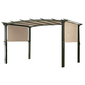 Garden Winds Universal Pergola Replacement Canopy – Standard 350 – Beige